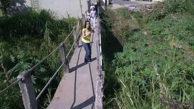 Moradores de Campo Grande cobram obra na Estrada da Moinho - Uma ponte em mau estado de conservação oferece risco aos moradores.