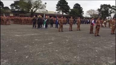 Polícia Militar do Paraná completa 163 anos - Teve cerimônia de comemoração na Academia Policial Militar do Guatupê, em São José dos Pinhais.