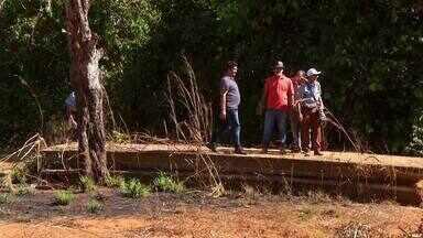 Estrutura de ponte preocupa pequenos produtores em Taquaruçu - Estrutura de ponte preocupa pequenos produtores em Taquaruçu