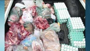 Mais de 220 kg de carne e ovos clandestinos são apreendidos em Mimoso do Sul, ES - Carne seria de abate clandestino.