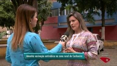 Zona rural de Cachoeiro, no Sul do ES, tem vacinação contra raiva - Gerente de Vigilância Ambiental fala sobre a imunização.