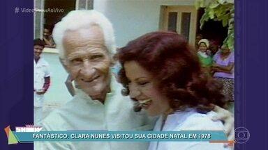 Relembre matéria do Fantástico com Clara Nunes em 1983 - Cantora completaria 75 anos neste sábado, 11/08