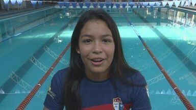 Nadadora amazonense se prepara para disputar a Copa Pacífico - Elysa Maia fala da expectativa de disputar competição na qual tem certa experiência, apesar de ter apenas 16 anos.