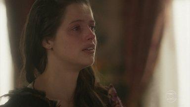 Domitila pensa ainda ter chance com Pedro - Ela afirma que nada pode separá-los, mas Pedro retruca: 'só a verdade'