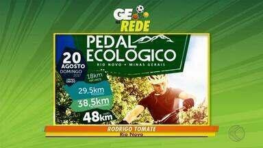 GE na Rede tem ciclismo em Rio Novo e futebol americano em Matias Barbosa - Pedal Ecológico ocorre no fim de semana em Rio Novo. Matias Barbosa Primatas e Três Rios Railroads se enfrentam no domingo