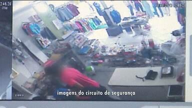 Ladrões roubam loja de roupas em Campina Grande - Imagens de circuito registraram a ação.