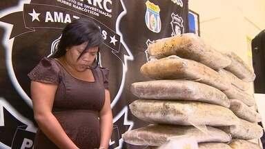 Mulher é presa ao tentar embarcar com 15 kg de drogas no aeroporto de Manaus - Veja reportagem do Jornal do Amazonas.