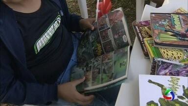 Tenda da literatura no Ação Cidadania em Campo Grande - Crianças foram até o local para encontrar vários tipos de histórias.