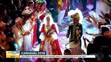 Tom Maior vai homenagear Imperatriz Leopoldina em samba-enredo de 2018 - A Tom Maior, que também vai homenagear a escola de samba carioca Imperatriz Leopoldinense, vai encerrar o primeiro dia de desfiles em São Paulo, que será na sexta-feira, 9 de fevereiro do ano que vem.