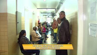 Pacientes enfrentam filas e falta de estrutura no Cisop - Enquanto isso, obra da nova sede continua parada.