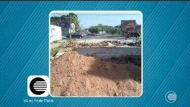 Moradores do Morada Nova reclama da obstrução de avenida - Moradores do Morada Nova reclama da obstrução de avenida