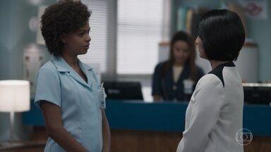 Mitsuko tenta convencer Nena a separar Anderson de Tina - A médica diz que Anderson está se endividando para levar a namorada a programas do nível social dela