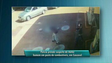 Está preso em Cascavel o jovem suspeito de ter matado um homem em um posto de combustível - O crime aconteceu no dia 22 de julho deste ano.