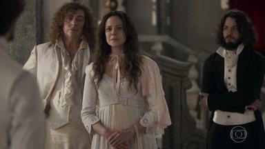 Amália conta para Dom Pedro sua história - Ela fala sobre o romance que teve com Dom João e o filho que tiveram