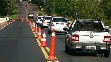 Ponto do Rio fica interditada para obras - Foi neste sábado na PR-323 entre Doutor Camargo e Jussara.