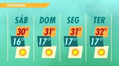 O domingo vai ser ensolarado em todo o Paraná - A temperatura também deve aumentar e não tem previsão de chuva para os próximos dias.