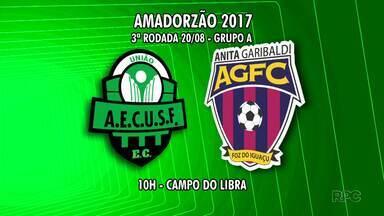 Confira quais são os jogos da rodada deste fim de semana do Campeonato Amador - Os jogos serão neste domingo de manhã.