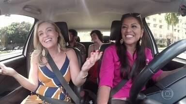 Angélica, Maria Flor e Bruno Gissoni conhecem a cooperativa Diva's táxi - Mulheres taxistas de Belém formaram uma cooperativa e oferecem serviços de transporte na cidade