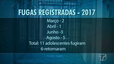Levantamento do número de fugas de menores infratores da Fasepa preocupa - Só em 2017, 11 adolescentes atendidos pela a Fundação de Atendimento Socioeducativo do Pará (Fasepa), fugiram da unidade. Nesses casos, apenas alguns menores retornam para o centro.