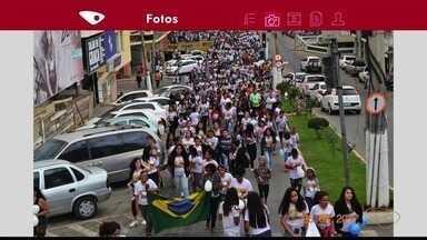 Crianças participam de retiro religioso em Barra de São Francisco, no Norte do ES - São 200 crianças que participam do evento religioso.