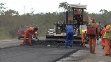 Motoristas questionam horário em que obras de revitalização da BR-470 são realizadas - Motoristas questionam horário em que obras de revitalização da BR-470 são realizadas