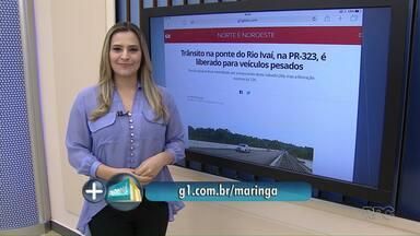 Tráfego na ponte do Rio Ivaí na PR-323 é liberada - A previsão inicial era de que a ponte ficasse interditada até a meia-noite de hoje (26) por causa de obras de manutenção.