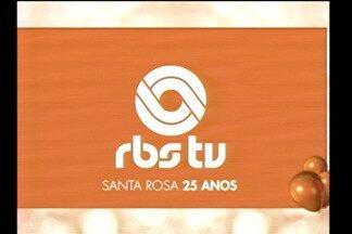 Telespectadores parabenizam os colaboradores da emissora - Atrações culturais também participam do Jornal do Almoço especial.