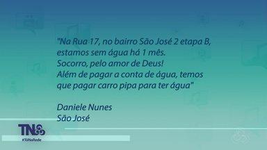 Tô na Rede: moradores reclamam de falta de água em bairro de Manaus - Denúncia foi enviada via Tô na Rede.