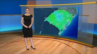 Tempo: quarta-feira (30) deve registrar temperaturas mais amenas no RS - Assista ao vídeo.