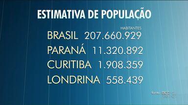 O Paraná é o sexto estado mais populoso do Brasil de acordo com última pesquisa do IBGE - O IBGE divulgou nesta quarta-feira (30) uma nova estimativa de população para todo o país./ A projeção leva em conta a tendência de crescimento apontada pelos últimos dois censos, de dois mil e dois mil e dez./