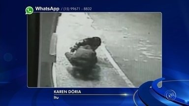 Câmera flagra casal furtando hidrômetro de sorveteria em Itu - Uma câmera de segurança flagrou um casal furtando o hidrômetro de um comércio em Itu, na noite de terça-feira (29).