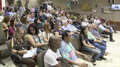 Moradores participam de audiência pública com o prefeito na Câmara de Vereadores - Já estão agendadas outras seis audiências em diferentes bairros da cidade.