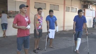 Pacientes voltam a cobrar cirurgias ortopédicas no Hospital de Emergências do Amapá - Eles também denunciam falta de raio-x. Direção do hospital diz que aparelho deve ser consertado. As cirurgias no Hcal ficaram suspensas por duas semanas.