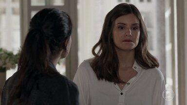 Antônia sugere ir à cidade da babá de Bebeth - Luíza pede que a inspetora mantenha segredo sobre a investigação