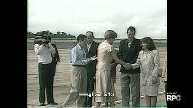 Lady Di visitou Foz do Iguaçu no início da década de 90 - Ela veio acompanhada do Príncipe Charles.