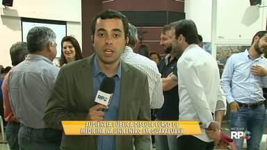 Audiência Pública discute curso de medicina na Unicentro - O projeto está pronto e agora depende de aprovações.