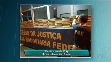 PRF apreende 90 kg de maconha em Alto Paraíso - A apreensão foi na madrugada de segunda-feira.