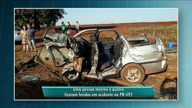 Homem morre em acidente na PR-492 - O corpo dele está sendo velado em Paranavaí.