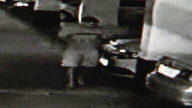 Novas imagens mostram PM reformado fugindo após assassinar vizinho - Câmeras de segurança gravaram momento seguinte ao assassinato, o policial reformado, José Arimatéia entra no carro e foge.