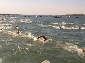 Tradicional travessia a nado pelo Rio Paraná é realizada em Panorama - Competição contou com a participação de 178 pessoas.