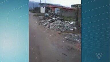 Mato e falta de asfalto geram reclamações de moradores em Praia Grande, SP - Problema acontece no bairro Ribeirópolis.