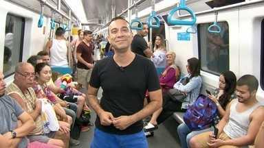 O transporte coletivo é o melhor caminho de chegada ao Rock in Rio - O repórter Fábio Júdice mostra como chegar ao Rock in Rio. O metrô vai ser uma opção de transporte.