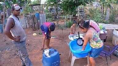 Moradores reclamam da falta de água em bairro de Corumbá, MS - Os moradores da região estão sem água há mais de meses.