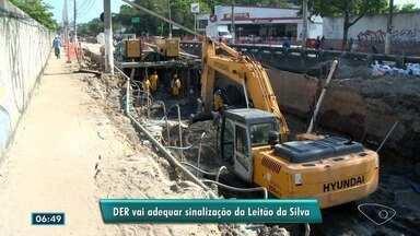 DER diz que vai adequar sinalização da avenida Leitão da Silva, em Vitória - O órgão ressaltou que já identificou os pontos que precisam de melhoria na sinalização e vai fazê-la.