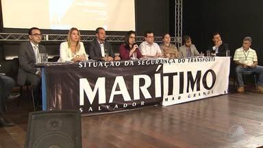 Defensoria Pública pede bloqueio de bens de empresa dona de lancha que virou em Mar Grande - Uma audiência realizada na Câmara de Vereadores nesta sexta-feira (15) discutiu melhorias no transporte marítimo entre Salvador e a Ilha de Itaparica.