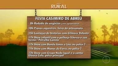 Confira a programação de comemoração de Casimiro de Abreu, RJ, que comemora 185 - Assista a seguir.