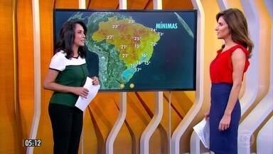 Tempo seco faz aumentar o risco de queimadas na maior parte do Brasil - Confira a previsão do tempo para a terça-feira (19) em todo país.