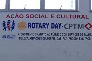 Suzano tem mais um dia de RotaryDay - Evento acontece na estação da CPTM.