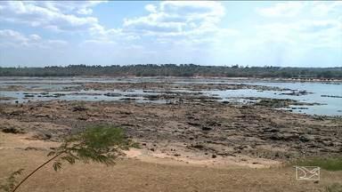 Baixo volume das águas do Rio Tocantins altera rotina de comunidades no MA - Em Porto Franco, o baixo nível do rio dificulta a navegação e já alterou a rotina de comunidades ribeirinhas.