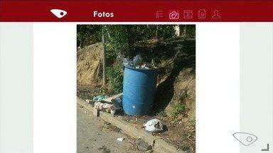 App da TV Gazeta: moradores de Itapemirim, ES, reclamam da falta de coleta de lixo - Sujeira fica espalhada pelos quintais das casas, aumentando a quantidade de mosquitos.